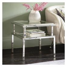 GA Salerno Side Table Silver