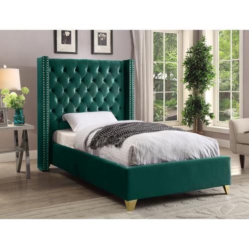"""Barolo Velvet Bed - 50"""" W x 81"""" D x 56"""" H"""