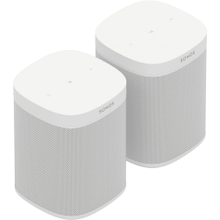 White- A pair of powerful microphone-free speakers for music and more in up to two rooms.