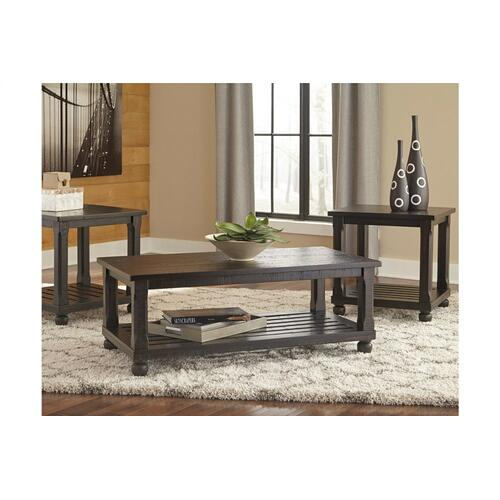 Mallacar Occasional Table Set Black