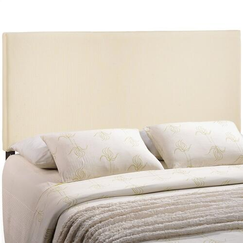 Region King Upholstered Fabric Headboard in Ivory