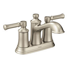 Dartmoor Brushed nickel two-handle high arc bathroom faucet