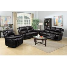 8026 BLACK 3PC Air Leather Living Room SET