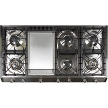 48 Inch Natural Gas Cooktop in Stainless Steel