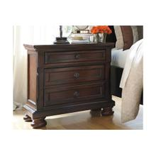 Porter Two Drawer Night Stand Rustic Brown