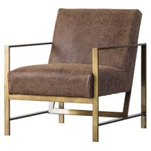 Francis PU Arm Chair, Nubuck Chocolate