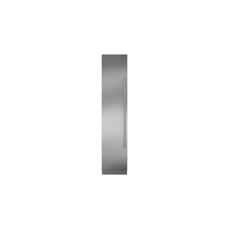 "Integrated Stainless Steel 18"" Column Door Panel with Pro Handle - Left Hinge"