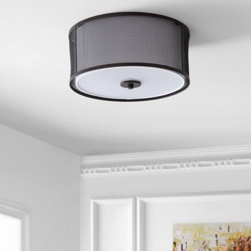 Product Image - Layne Flush Mount - Dark Grey / White