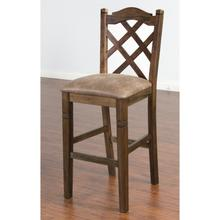 "Savannah 30"" Double Crossback Barstool"