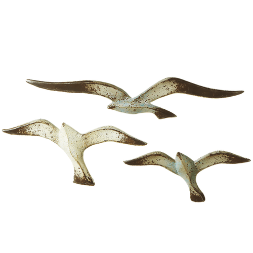 Distressed Flying Seagull Wall Decor (3 pc. set)