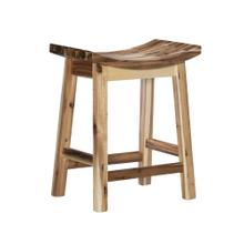 Saddle Counter Stool, Light Natural