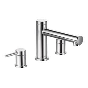 Align chrome two-handle roman tub faucet