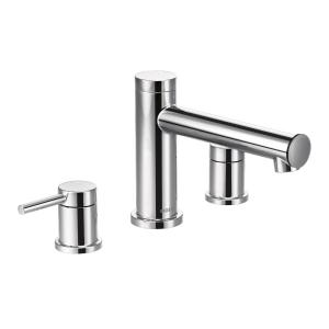 Align chrome two-handle roman tub faucet Product Image