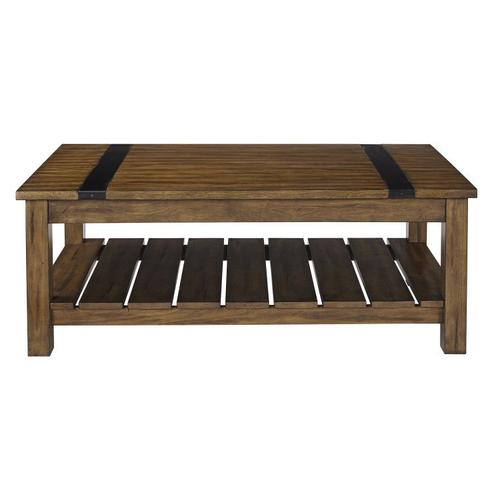 Standard Furniture - Nelson Distressed Brown Coffee Table