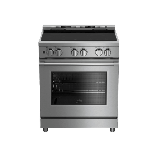 "30"" Stainless Steel Pro-Style Induction Range"