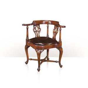 Theodore Alexander - The Nicholas Brown 'Roundabout' Chair, Cream Ostrich