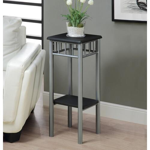 Gallery - ACCENT TABLE - BLACK / SILVER METAL