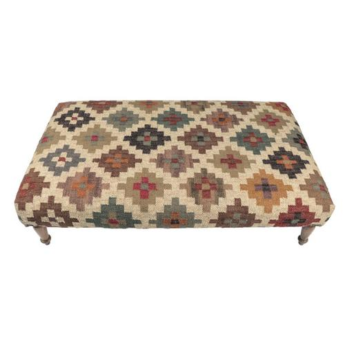 Transitional Upholstered Cocktail Ottoman