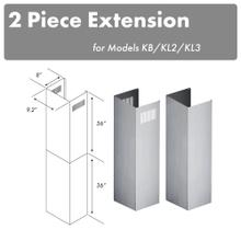 """View Product - ZLINE 2-36"""" Chimney Extensions for 10 ft. to 12 ft. Ceilings (2PCEXT-KB/KL2/KL3)"""