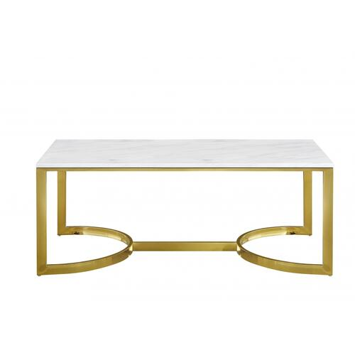 "London Gold Coffee table - 48"" W x 25"" D x 18.5"" H"