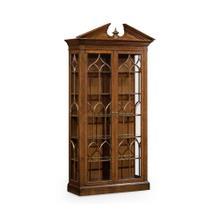 Glazed Walnut Display Cabinet