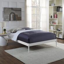 Elsie King Bed Frame in White