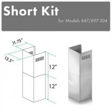 """View Product - ZLINE 2-12"""" Short Chimney Pieces for 8 ft. Ceilings (SK-667/697-304)"""
