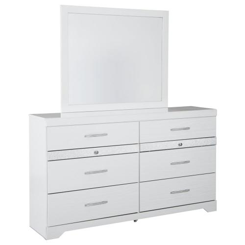 Jallory Dresser and Mirror