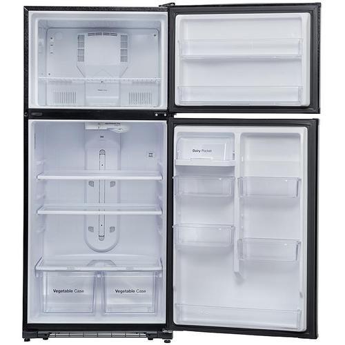 Winia - 20.8 cu. ft. Top Mount Refrigerator - Black