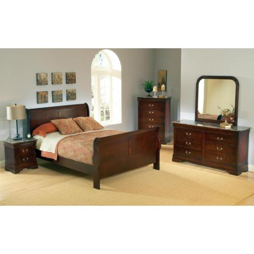 Lorencia Louis Philippe Panel Sleigh Bed - Twin