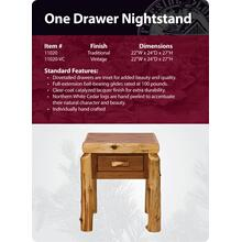 See Details - One Drawer Nightstand- Traditional