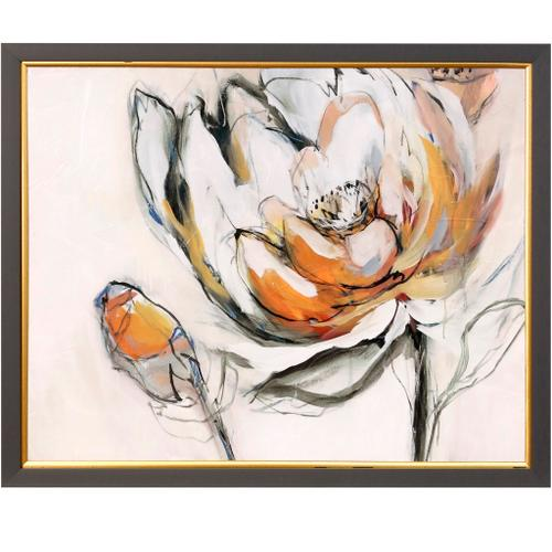 Style Craft - BLOOMED IV  35in w X 35in ht  Textured Framed Print  Made in USA
