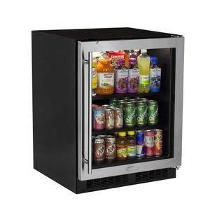 Marvel24-In Low Profile Built-In Beverage Center with Door Swing - Right