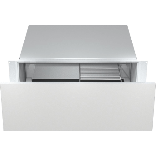 30 inch warming drawer with 10 13/16 inch front panel height with the low temperature cooking function - much more than a warming drawer.