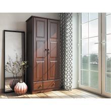 5643 - 100% Solid Wood Flexible Wardrobe -Mocha