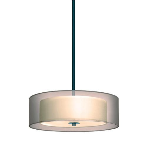 "Sonneman - A Way of Light - Puri Pendant [Size=16"", Color/Finish=Black Brass w/Bronze Shade]"