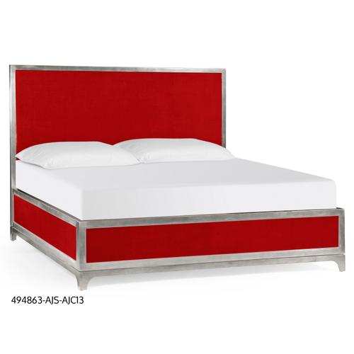 Alexander Julian US King bed (Lipstick/Silver)