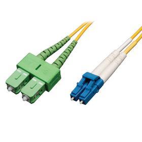 Duplex Singlemode 8.3/125 Fiber Patch Cable (LC to SC/APC), 2M (6 ft.)