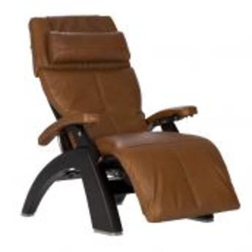 Human Touch - Perfect Chair ® PC-600 Silhouette - Matte Black - Cognac Premium Leather