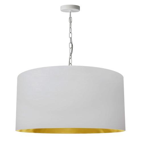 Product Image - 1lt Braxton Large Pendant, Wht/gld Shade, Wht