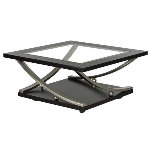 Standard Furniture - Melrose Square Cocktail Table with Glass Top, Brown