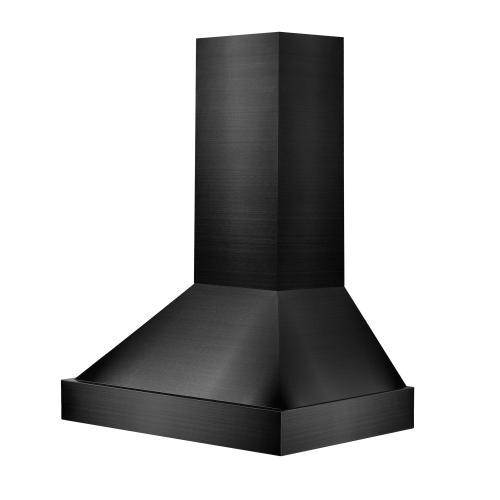 Zline Kitchen and Bath - ZLINE Black Stainless Steel Wall Mount Range Hood (BS655N) [Size: 30 Inch]