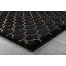 Metallica Area Rug Collection - 2' x 3' / Black / Moon