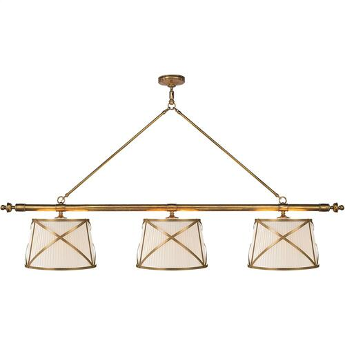 Visual Comfort CHC1482AB-L E. F. Chapman Grosvenor 6 Light 75 inch Antique-Burnished Brass Linear Pendant Ceiling Light