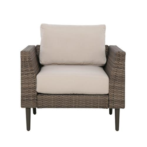 Accentrics Home - Transitional Weaved Chair Frame in Brown