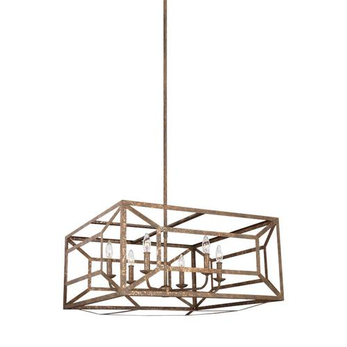 Marquelle Wide Lantern Distressed Goldleaf