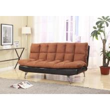 DARK BROWN PU ADJUSTABLE SOFA BED