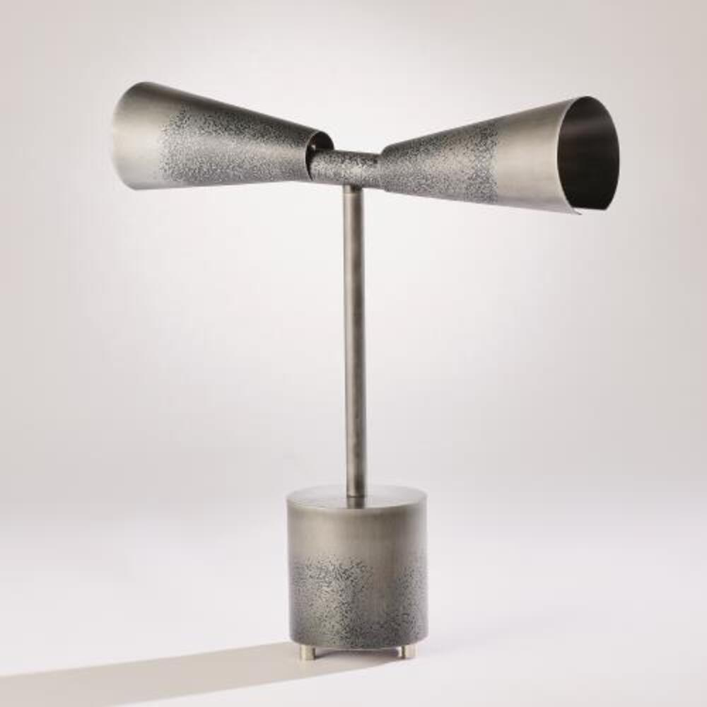 Ombre Trumpet Desk Lamp-Graphite/Pewter