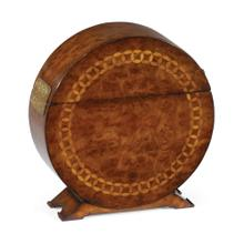 Circular Walnut & Circular Inlay Placemat Box