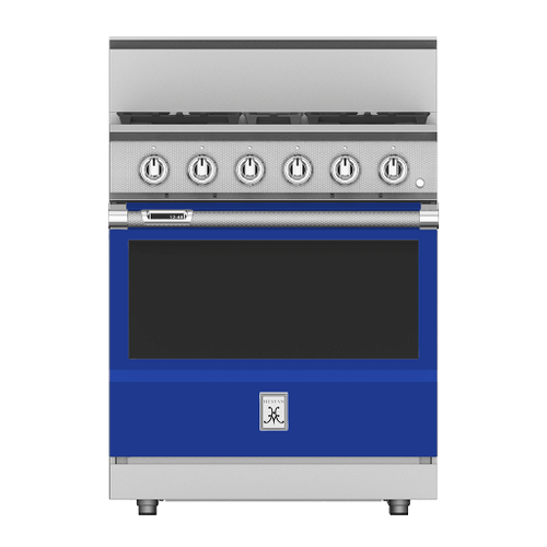 """Hestan - 30"""" 4-Burner Dual Fuel Range - KRD Series - Prince"""